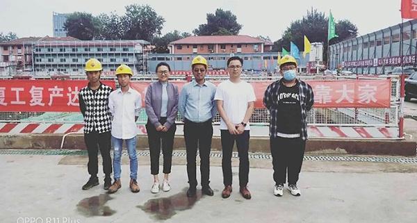 集团人力资源部、集团综合管理部到北京百万庄项目慰问