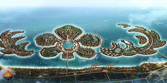 恒大地产项目:海南海花岛(建筑面积1600万㎡)
