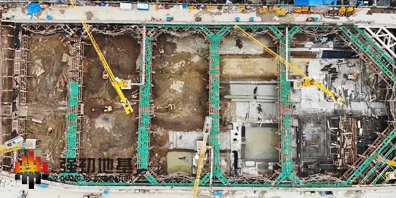 强劲地基分享基坑工程知识点:预应力鱼腹式基坑钢支撑