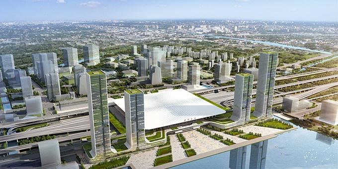 旋喷搅拌加劲桩:苏州高铁站枢纽综合开发项目