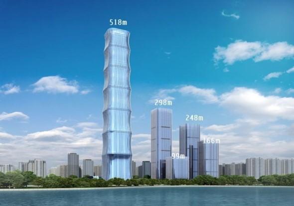 合肥恒大中心(建筑高度518m)