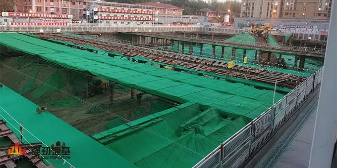 预应力鱼腹式基坑钢支撑:北京百万庄项目